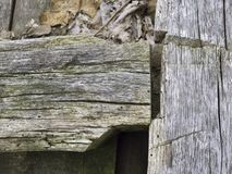 Old Wood Timber Frame Joint Royalty Free Stock Image