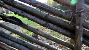 Old wood used as fence Stock Photos