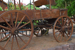 Old wood wagon. Prairie schooner type wood wagon Royalty Free Stock Photos