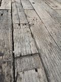 Old wood walkway burr rough surface texture material. Line royalty free stock image