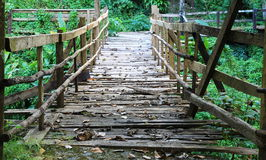 Old wood walkway Royalty Free Stock Images