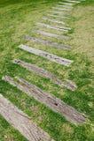 Old wood walkway stock images