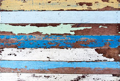 Old wood wall. With paint cracking Stock Photo