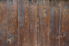 Old Wood Wall. Constructed from vertical wood panels stock photo