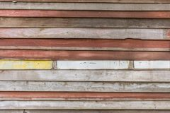 Old wood wall reuse panel. Or recycle wooden plank background Stock Photo