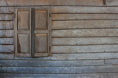 Old wood wall and window Royalty Free Stock Photography