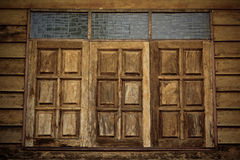 Old wood wall with window Stock Photography