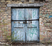 old wood warehouse door, hangar Royalty Free Stock Images