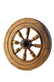 Old wood wheel. With clipping path royalty free stock image