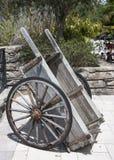 Old Wood Wheel Barrow Royalty Free Stock Photography