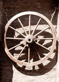 Old wood wheel Stock Images