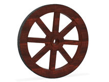 Old wood wheel Stock Photography