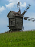Old wood windmill Stock Photo