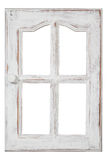 Old wood Window. An old wood Window white paint and grunge, Isolated on white Royalty Free Stock Photo