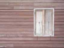 Old wood window on building Stock Photo