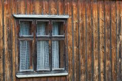 Old wood window. From a house in the mountain village royalty free stock images
