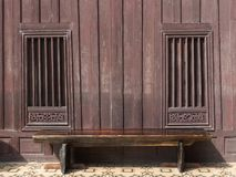Old wood window of thai home style. Design royalty free stock image