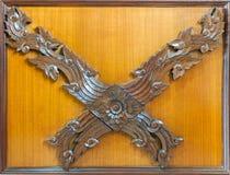 Old wood  wood frame thai art Stock Photography