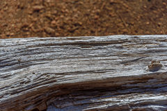 Old wood wooden texture. Brown soil background Stock Photo