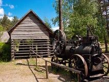 Old woodcutter hut in Wdzydze Kiszewskie Poland Stock Photo