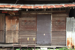 Old wooden. Windows texture in bangkok Royalty Free Stock Photography