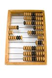 Old wooden abacus. Old wooden abacus with a calculated sum Royalty Free Stock Image