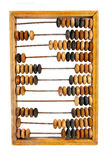 Old wooden abacus with a calculated sum Royalty Free Stock Photography
