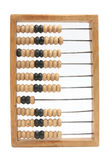 Old wooden abacus with a calculated sum Royalty Free Stock Image