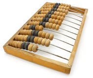 Old wooden abacus close up Stock Photo