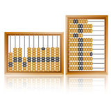 Old wooden abacus close up Royalty Free Stock Photo