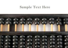 Old wooden abacus with copy space Royalty Free Stock Image