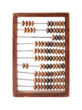 Old wooden abacus isolated Royalty Free Stock Photos