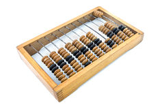 Old wooden abacus. Isolated on white background Royalty Free Stock Images