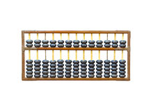 Old wooden abacus on white Stock Photography