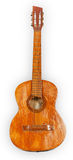 Old wooden acoustic guitar Royalty Free Stock Image