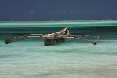 Old wooden arabian dhow Royalty Free Stock Photos