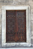 Old wooden arabic door Royalty Free Stock Photo
