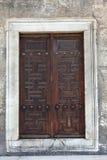 Old wooden arabic door royalty free stock photo