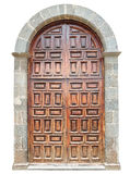 Old wooden arch door Royalty Free Stock Photos