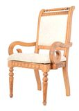 Old wooden arm chair Stock Image