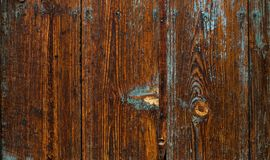 Old wooden background with blue rippled paint. vintage wood texture. royalty free stock photo