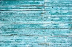Old wooden background colored blue paint. royalty free stock photo