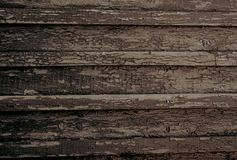 Old wooden background. Wallpaper with peeling paint stock photo