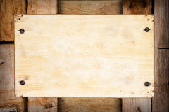 Old wooden background frame Royalty Free Stock Images