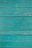 Old wooden background in green or turquoise color. royalty free stock image