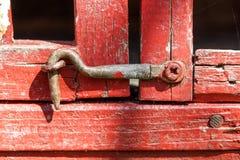 Old wooden background hook on the wooden door old door lock Royalty Free Stock Photography