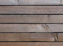 Old wooden background with horizontal boards Royalty Free Stock Photography