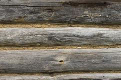 Old wooden background. Old log cabin wooden background Royalty Free Stock Image