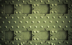 Old wooden background with metal rivets vintage door detail Royalty Free Stock Photography