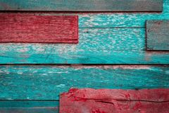 Old wooden background patched with nail nailed stock photos